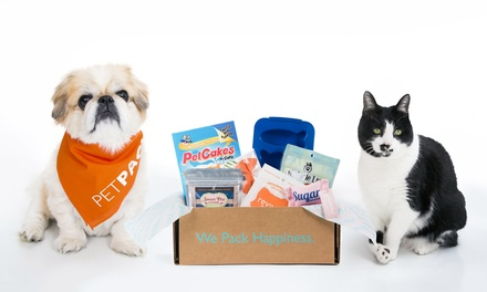 One- or Three-Month Subscription from PetPack (Up to 34% Off)