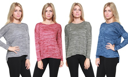 Women's Knit Split-Back Sweater Blouse (Made in the USA)