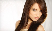 Haircut, Deep-Conditioning Treatment, and Style with Optional Sun-Kissed Highlights at Salon Exclussif (Up to 64% Off)