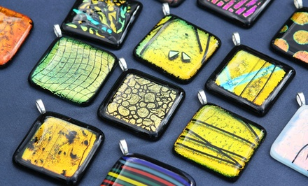 BYOB Glass-Jewelry or Tray-Making Workshop at Canterbury Stained Glass (Up to 50% Off). Three Options Available.