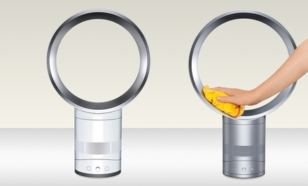 groupon daily deal - Dyson AM01 Fan (Refurbished). Multiple Sizes from $119.99-$129.99