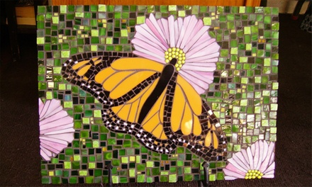 Beginner or Intermediate Mosaic Class or Three Fused Jewelry Workshops at Art Glass Studio (Up to 67% Off)