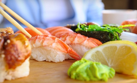 Sushi and Pan-Asian Dinner Food at Sushi Box (Half Off). Two Options Available.