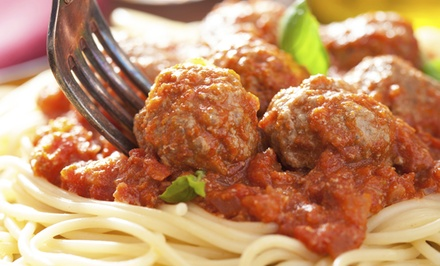 $12 for an Italian Pasta Dinner with Salads and Bread for Two at Tim's Pizzeria and Pub ($20 Value)