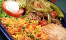 Catered Mexican Food for 25 or 50 or $10 for $20 Worth of Mexican Cuisine at El Saguarito