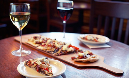 Beer or Wine with Flatbread Appetizers for Two or Four at The Bean Coffee &amp; Wine Cafe (Up to 52% Off)