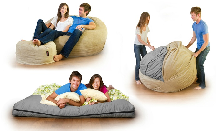 Convertible Beanbag Chair Bed Groupon Goods