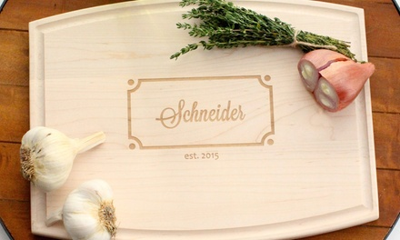 Personalized Cutting Boards from The Plaid Barn; 1 for $39 or 2 for $75