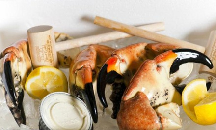 Home Delivery of Fresh Stone Crab Claws from George Stone Crab (Up to 50% Off). Two Options Available.