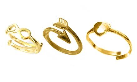 Prometeu: anel com seta de cupido, coração ou símbolo de infinito por 12,90€