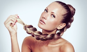 One Hair Braiding Session Or Haircut And Deep Conditioning At Brow Bar Spa (up To 56% Off)
