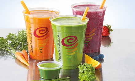 Three Groupons, Each Good for One 16 Oz. Freshly Squeezed Juice at Jamba Juice (Up to 43% Off)