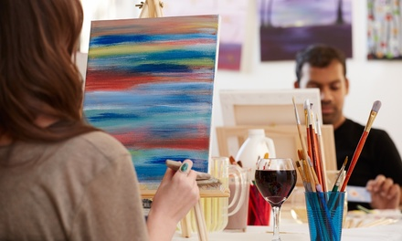 Sip and Paint Class for One or Two with Wine and Snacks at A&A Energii (Up to 54% Off)