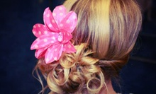 Girls' Mani-Pedi, Glittery Updo, or Both at The Tutu Boutik (Up to 52% Off)