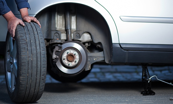 Maddington Tyre & Suspension - Maddington: Tyre Repair for One ($5) or Two Tyres ($9) with Check on All Tyres at Maddington Tyre & Suspension (Up to $50 Value)