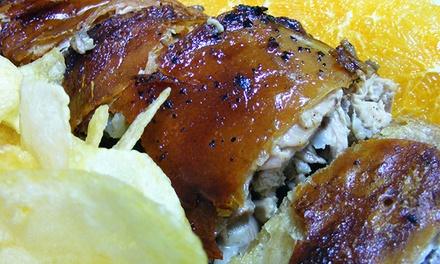 Paladares da Bairrada — Carcavelos: take-away de 500 g ou 1 kg de leitão com garrafa de frisante desde 9,50€