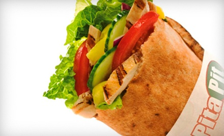 Two Pitas or a 10-Pita Specialty Platter at Pita Pit (Up to 51% Off)