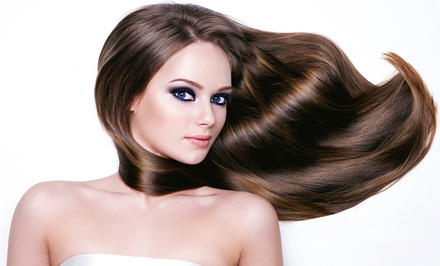 Keratin Repair Treatment with Option for Cut and Style, or Partial Highlights and Cut at JenJa Beauty (Up to 53% Off)