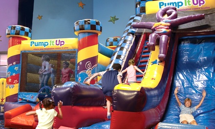5 or 10 Kids' Open-Play Sessions or a Deluxe Kids' Party at Pump It Up (Up to 51% Off). Four Options Available.