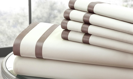 Italian Hotel Collection 1,000TC 6-Piece Sheet Set with Double Satin Band Available from $49.99—$64.99