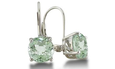 5 CTW Green Amethyst Drop Earrings