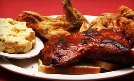Soul Food and Barbeque at Brothers Kitchen Restaurant (Up to 51% Off). Two Options Available.
