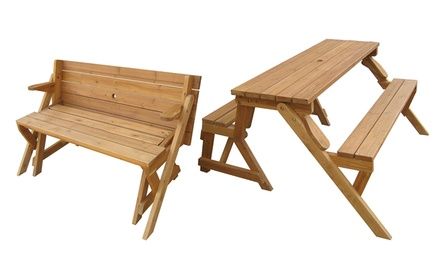 Merry Products Interchangeable Picnic Table and Garden Bench