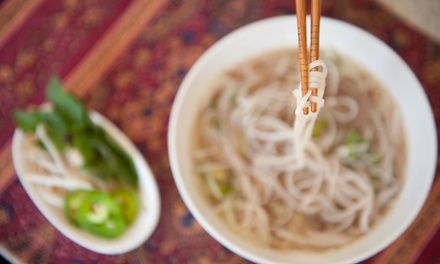 Vietnamese Cuisine at Pho Hoang Vietnamese Restaurant (Up to 40% Off). Two Options Available.