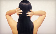 Silk Press, Deep Conditioning with Relaxer Retouch, or Hair Extensions from Apryle Blu @ PUSH Salon (Up to 40% Off)
