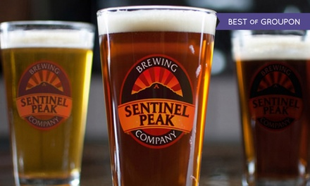 Beer and Appetizers for Two or Four at Sentinel Peak Brewing Company (Up to 46% Off)
