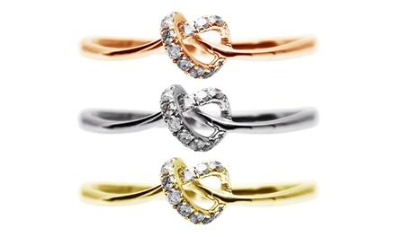 Anel modelo Love Bond em ouro branco, ouro amarelo ou ouro rosa por 84,99€