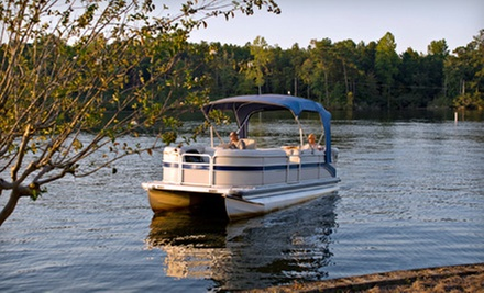 Four-Hour Midlevel or Deluxe Pontoon Rental from Let's Catch Fish (Up to 60% Off)