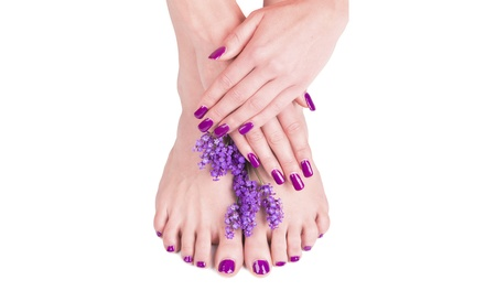 Mani-Pedi with Optional Designs, or Two Gel Manicures with Designs at Styles International Salon (Up to 67% Off)