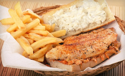 Seafood, Steaks, and Sandwiches at Catfish Lake (Half Off). Two Options Available.