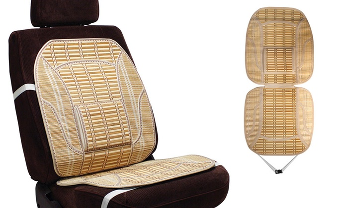 Bamboo Car Seat Cover With Lumbar Support