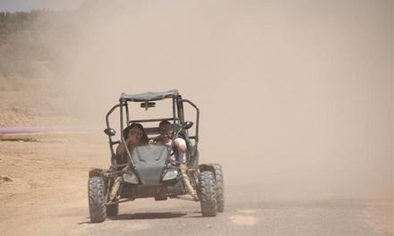 נהיגת שטח זוגית בת שעה בבאגי בסביבות אילת, כולל עצירת התרעננות ותיעוד ודיסק עם 50 תמונות ב-225 ₪ בלבד