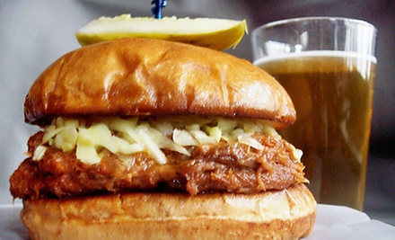 Pub Food and Drinks at Off the Clock Bar & Grill (Up to 53% Off). Two Options Available.