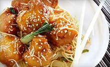 Three or Six Groupons, Each Good for $10 Worth of Burgers and Chinese Food at FireWok Express (Up to 52% Off).