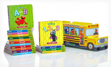 Sesame Street ABCs and 123s 16-Book Bus Bundle