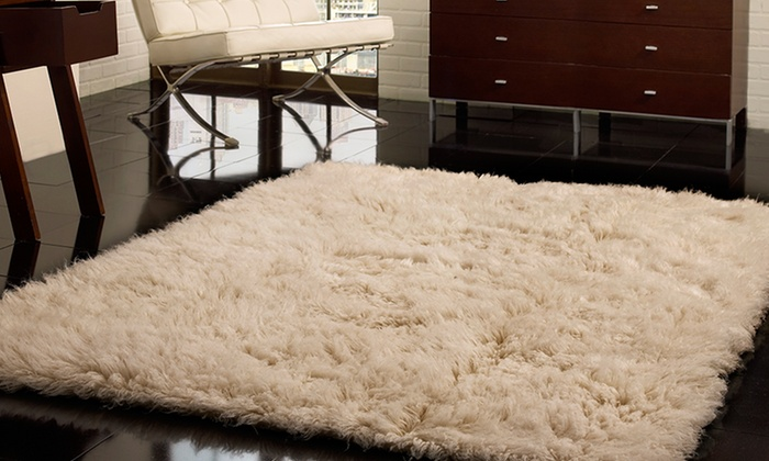 Nuloom Natural Greek Flokati Rug Groupon