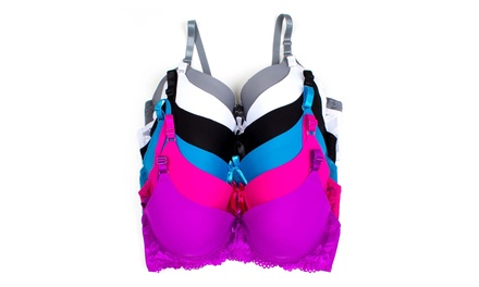 6-Pack of Women's Plus Size Bras