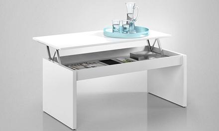 Mesa de centro elevável em branco brilho ou cinza por 79,90€