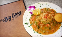 New Orleans–Style Cuisine at The Big Easy Bar and Grille (Up to 53% Off). Two Options Available.