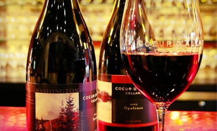 Wine Flight with Cheese Plate, or $15 for $30 Worth of Wine and Small Plates at Coeur d'Alene Cellars