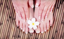 One Mani-Pedi or Five Manicures at All About Beauty Salon & Spa (Up to 70% Off)