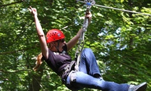 Ziplining and Mammoth Cave Drop Tower for One or Two Saturday or SundayFriday at Mammoth Cave Adventures (Up to 51%Off)
