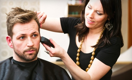 One or Three Men's Haircuts with Hot-Towel Nape Shaves at Moe Mesto (Up to 57% Off)