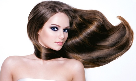 Haircut and Moroccanoil Treatment with Optional Colour or Highlights and Sangria at not just makeovers (Up to 87% Off)
