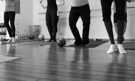5 or 10 Barre-Fitness Classes at Range of Motion Fitness, LLC (Up to 61% Off)