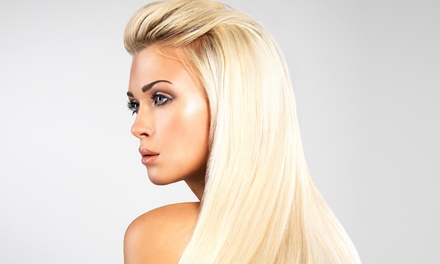 Luxury Hair Extensions or Full Base Color and Deep Condition at Jack Winn Salon & Body Center (Up to 59% Off)